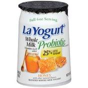 La Yogurt Probiotic Honey Blended Whole Milk Yogurt