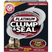 Arm & Hammer Clump & Seal Platinum Multi-Cat Complete Odor Sealing Arm & Hammer Clump & Seal Platinum Multi-Cat Complete Odor Sealing Litter