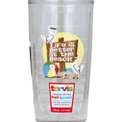 Tervis Tumbler, No Lid, Life Better at the Beach, 16 Ounce