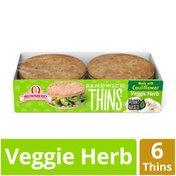 Brownberry Vegetable Herb Cauliflower Sandwich Thins Rolls