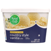 Food Club Country Style Vanilla Flavored Premium Ice Cream