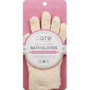 Care Bath Gloves, Exfoliating