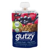 Gutzy Organic Fruit & Oat Snack Apple, Mixed Berries & Steel Cut Oats