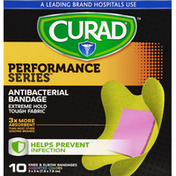 CURAD Bandages, Knee & Elbow, Antibacterial, Assorted Colors