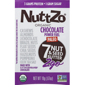 NuttZo 7 Nut & Seed Butter, Organic, Chocolate Power Fuel, 2go