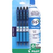 Pilot Pens, Ball Point, Medium 1.0 mm, Black Ink