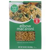 Food Club Enriched Macaroni Product, Elbow Macaroni