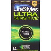 LifeStyles Condoms, Natural Feeling, Ultra Sensitive
