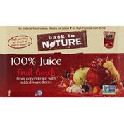 Back to Nature 100% Juice Pouches Fruit Punch