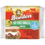 Borden Fat Free Swiss Singles Cheese