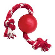 KONG Ball With Rope Dog Toy - S/M