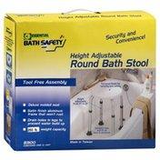 Essential Bath Stool, Round, Height Adjustable