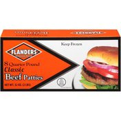 Flanders Homestyle 8 Quarter Pound Classic Beef Patties