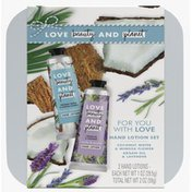 Love Beauty And Planet Hand Lotion Gift Set Coconut Water Mimosa + Lavender Argan Oil