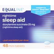 Equaline Sleep Aid, Nighttime, Mini Tablets