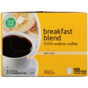 Food Club Light Roast Breakfast Blend 100% Arabica Coffee Single Serve Cups