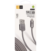 Case Logic Charge and Sync Cable, Type C USB, Braided, 10 Feet