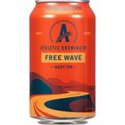 Athletic Brewing Co Beer, Hazy IPA, Free Wave