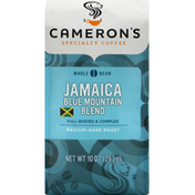 Camerons Coffee, Whole Bean, Medium-Dark Roast, Jamaica Blue Mountain Blend