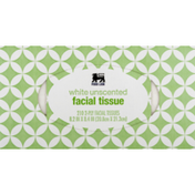 Food Lion Facial Tissues, White Unscented