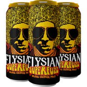 Elysian Superfuzz Orange Pale Ale Beer Cans