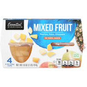 Essential Everyday Mixed Fruit, Peaches, Pears, Pineapple, in 100% Juice