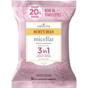 Burt's Bees Micellar Facial Towelettes With Rose Water