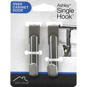 Spectrum Single Hook, Over Cabinet Door, Ashley