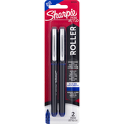 Sharpie Roller Pens, Blue Ink, 0.5 mm