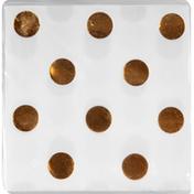 Amscan Beverage Napkins, Metallic Dots - Gold