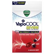 Vicks Vapocool , Medicated Drops, Soothes Sore Throat Pain Caused By Cough