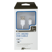 MobilEssentials Micro USB Cable 3 FT