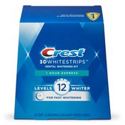 Crest 3Dwhitrstrips 1-Hour Express At-Home Teeth Whitening Kit