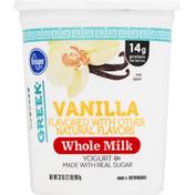 Kroger Yogurt,Greek, Whole Milk, Vanilla