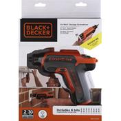 Black & Decker Screwdriver, Storage, 4V