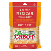 Cabot Cheese, 4 Cheese Mexican Blend Rustic Cut Shredded