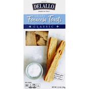 DeLallo Focaccia Toasts, Crispy, Classic