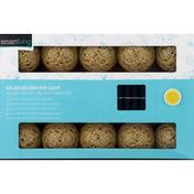Smart Living Decorative Light, Solar, with Fabric Ball