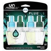 Febreze Unstopables Odor-Eliminating Plug Air Freshener, Fresh