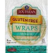 Toufayan Wraps, Gluten Free, Spinach