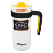 Cool Gear Kafe Single Wall Ceramic Travel Mug Removable Hanle