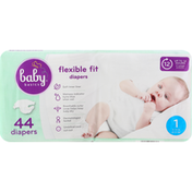 Baby Basics Diapers, 1 (8-14 lb), Flexible Fit