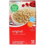 Food Club Original Instant Oatmeal