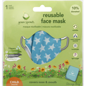 green sprouts Face Mask, Reusable, Child