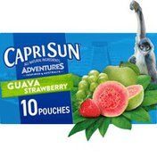 Capri Sun Guava Strawberry Naturally Flavored Juice Drink Blend