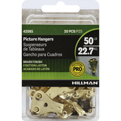 Hillman Group Picture Hanger, Professional, Brass Finish