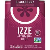 Izze Juice Beverage, Sparkling, Blackberry