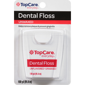 TopCare Dental Floss, Unflavored Unwaxed