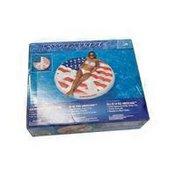 "Swimline 60"" Inflatable Americana Peace Island Float for Swimming Pool"