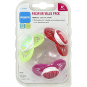 MAM Pacifiers, Trends Collection, 6+ Months, Value Pack
